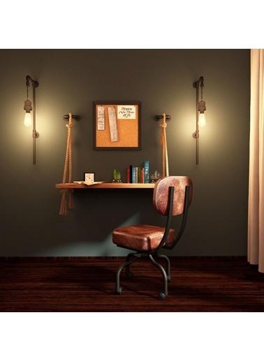222 Concept Masif Ağaç Tik Renk 100x40 cm Çalışma Masası Renkli